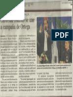 Cardenal Obando Se Une a Campaña de Ortega