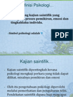 Definisi Psikologi