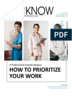Sample Cna Inservice How to Prioritize Your Work