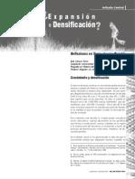 Expansión vs. Densificación