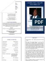 "Cremuel Theodore ""Judo"" Harrell Funeral Program"