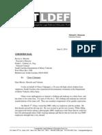 Letter sent to SCDMV