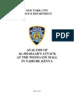 US - NYPD Westgate Report - Dec 11 2013