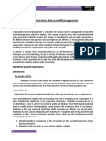 Organization Resource Management