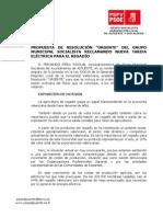 Propuesta de Resolución URGENTE Reclamando Nueva Tarifa Electrica Para El Regadio
