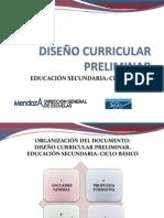 Presentacion++Curricular+Preliminar+Educacion+Secundaria+Ciclo+Basico