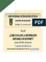 Cómo Evaluar La Información en Internet