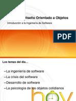 ADOO Clase 1 - Introducción a La Ingeniería de Software
