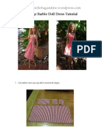 Vintage Barbie Doll Dress Tutorial