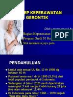 Konsep  Gerontik