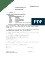 Surat Permohonan Ganti Judul Skripsi