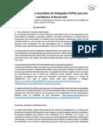 Propuestas Asamblea de Delegados FEPUC Para Candidatos Al Rectorado