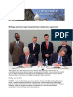 Michigan and Israel Sign Industrial R&D Collaboration Agreement