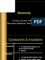 electricity - current voltage battery current resistance and grounding