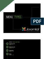 Joomla! v 1.5 Menu Types