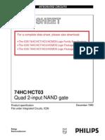 RP6 Data sheet - 74HC/HCT03 Quad 2-input NAND gate