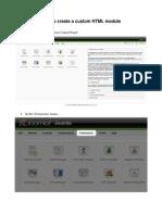 Joomla! v 1.5 How to create a custom HTML module