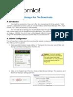 Joomla! v 1.5 Using Media Manager for File Downloads