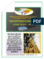 Informativo Mensual Sportsrecors - Junio 2014 Nº1