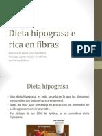 Dieta Hipograsa e Rica en Fibras