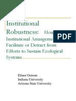 Institutional_Robustness(Prof. Ostrom 발표자료)