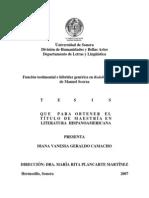 Geraldo Camacho, Diana Vanessa - Función Testimonial e Hibridez General en Redoble Por Rancas de Manuel Scorza