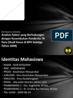 Analisis Faktor Yang Berhubung 6450404036