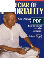 Sri Sadguru Nisargadatta Maharaj - The Nectar of Immortality