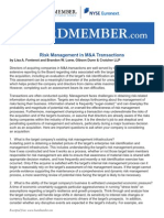 Risk Management in MA Transactions