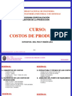 Curso Costos Produccion - 3ra Sesion
