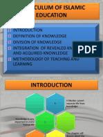 Ctu 082 Chapter 3 Curriculum of Islamic Education
