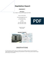 Dilapidation Report Barclays Colmore Square