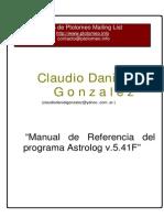 Claudio Daniel Gonzalez - Programa Astrolog v.5.41F
