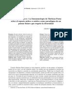 Mundos Vividos. La Fenomenología de Merleau-Ponty Sobre El Espacio Mítico u Onírico Como Paradigma de Un Pensar Futuro Que Respete La Diversidad