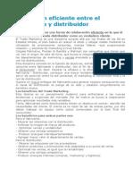 La Gestión Eficiente Entre El Fabricante y Distribuidor