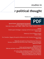 Studies in Social and Political Thought, Volume 19