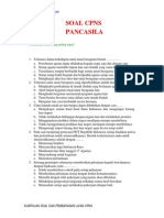 Soal Cpns Pancasila 2