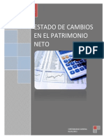 Estado de Cambios en El Patrimonio Neto (Informe)