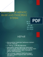 Anatomy of Hepatic, Bilier and Pancreas System