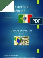 Deuda Externa de Mexico y Brasil