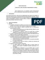 Minuta Explicativa Proyecto de Ley. Copago Seleccion y Lucro. Final