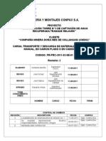 Carga Transporte y Descarga de Materiales Mecanizada y Manual en Camión Plano o en Camión Pluma