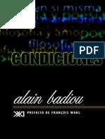 Alain Badiou - Condiciones 2002