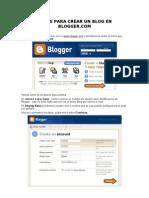 Pasos Para Crear Un Blog en Blogger