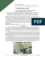 Communication via LED