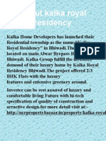 Kalka Royal Residency property in delhi ncr.