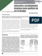 Métodos de Selección y Escalamiento de Registros Sísmicos Para Análisis de Respuesta en El Tiempo