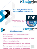 Case Study For Community Platform Promoting Cultures