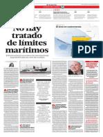No Hay Tratado de Límites Marítimos 1