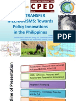 Risk Transfer Mechanisms - Towards Policy Innovations Fin